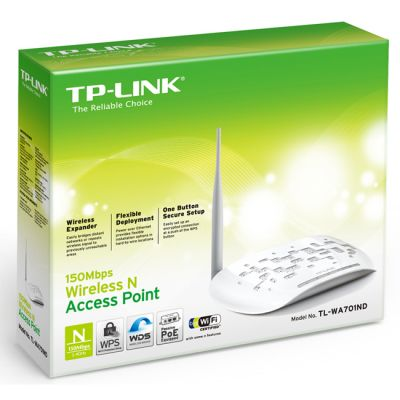Точка доступа TP-Link TL-WA701ND 150Mbps lan