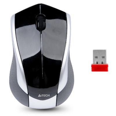 Мышь беспроводная A4Tech Holeless Silver-Black USB G7-400D-2