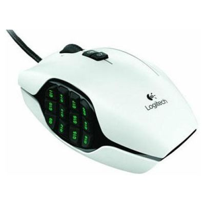 Мышь проводная Logitech Gaming G600 White 910-002872