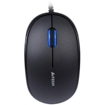 Мышь проводная A4Tech Holeless Black USB D-555-1