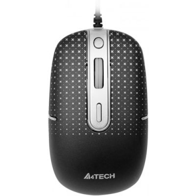 Мышь проводная A4Tech Holeless Mouse Black USB D-557FX-1