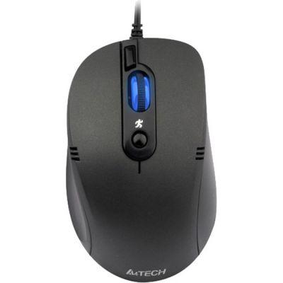 Мышь проводная A4Tech Holeless Black USB D-560FX