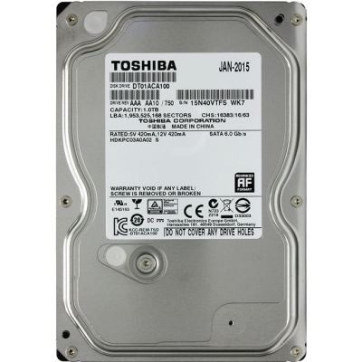 """������� ���� Toshiba SATA III 1Tb 3,5"""" DT01ACA100"""