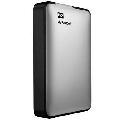 "������� ������� ���� Western Digital USB3 2000GB My Passport Silver 2,5"" WDBFBW0020BSL-EEUE"