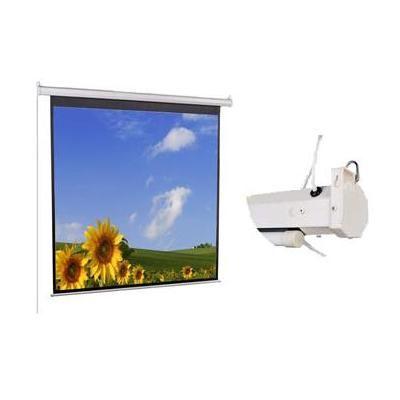 Экран Classic Solution с электроприводом Lyra 274x274 (E 266х198/3 MW-D8/W)