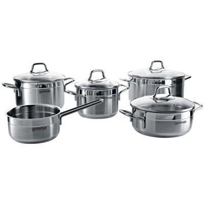 Кастрюля Gorenje Набор посуды предмета CW9SC (нержавеющая сталь)