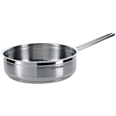 Сковородка Gorenje CW30SC сковорода без крышки 3 л 24см, нержавеющая сталь