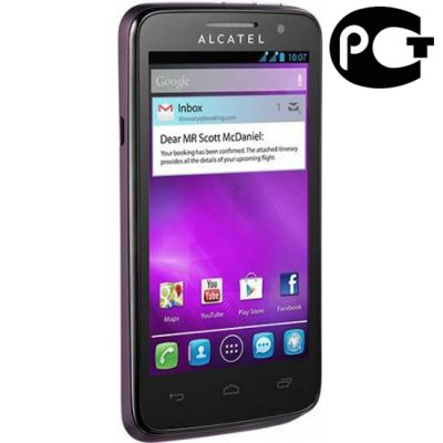 Смартфон Alcatel M-POP 5020D Aubergine