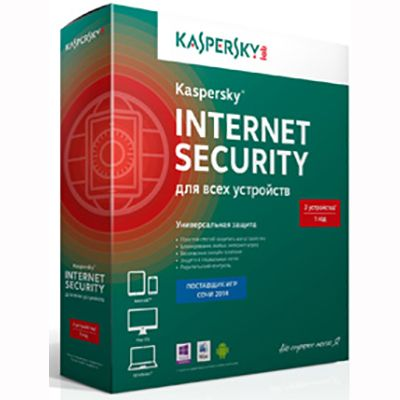 Kaspersky Internet Security 2014 Multi-Device Russian Edition. 3-Device 1 year Base Box (0+) KL1941RBCFS