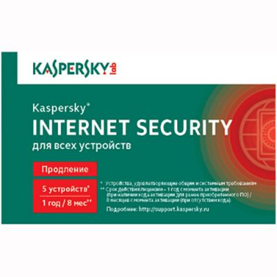 Антивирус Kaspersky Internet Security 2014 Multi-Device Russian Edition. 5-Device 1 year Renewal Card (0+) KL1941ROEFR