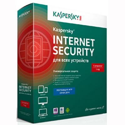 Антивирус Kaspersky Internet Security 2014 Multi-Device Russian Edition. 5-Device 1 year Base Box (0+) KL1941RBEFS