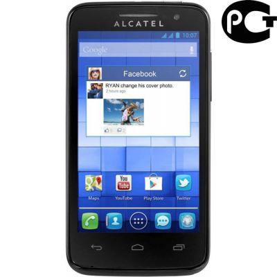 Смартфон Alcatel M'Pop 5020D Black