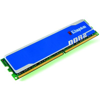 Оперативная память Kingston DIMM 2GB 800MHz DDR2 Non-ECC CL5 HyperX Blu KHX6400D2B1/2G