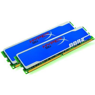 Оперативная память Kingston DIMM 4GB 800MHz DDR2 Non-ECC CL5 DIMM (Kit of 2) HyperX Blu KHX6400D2B1K2/4G