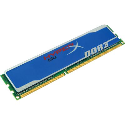 Оперативная память Kingston DIMM 4GB 1600MHz DDR3 Non-ECC CL9 HyperX Blu KHX1600C9D3B1/4G
