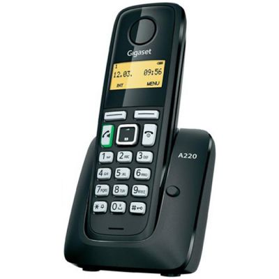 Телефон Gigaset Dect A220 беспроводной S30852-H2411-S301