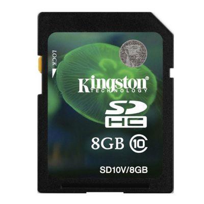 Карта памяти Kingston 8GB SDHC Class 10 SD10V/8GB