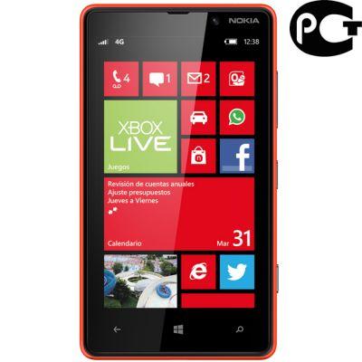 Смартфон Nokia Lumia 820 (красный)