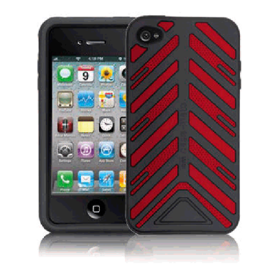 Чехол CaseMate Torque для Iphone 4/4s Черно-красный (CM011812)