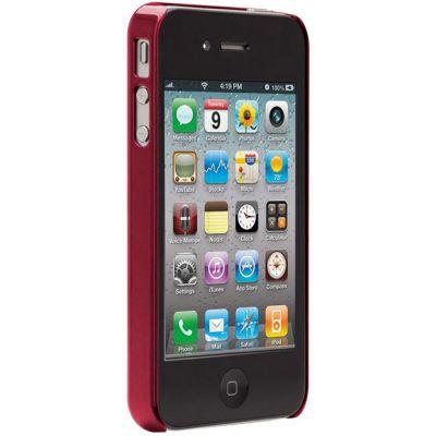 Чехол CaseMate BT Alumnum для Iphone 4/4s Red (CM017125)