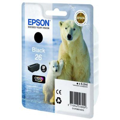 Картридж Epson 26 XP600/7/8 Black/Черный (C13T26014010)