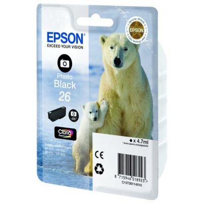Картридж Epson 26 XP600/7/8 Black/Черный (C13T26114010)
