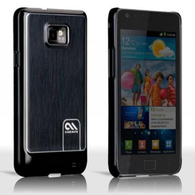 Чехол CaseMate BT Alu. Samsung Galaxy S 2 Black (CM016418)
