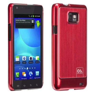 Чехол CaseMate BT Alu. для Samsung Galaxy S II Red (CM017174)