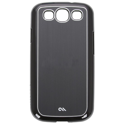 Чехол CaseMate Barely There Aluminum для Samsung Galaxy S3 Black (CM021202)