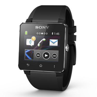 Sony Часы SmartWatch 2 SW2 (силиконовый черный браслет)