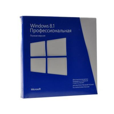 Программное обеспечение Microsoft Windows Pro 8.1 32-bit/64-bit Russia Only DVD BOX FQC-07349