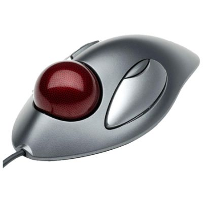 Мышь проводная Logitech Trackman Marble Silver USB 910-000808