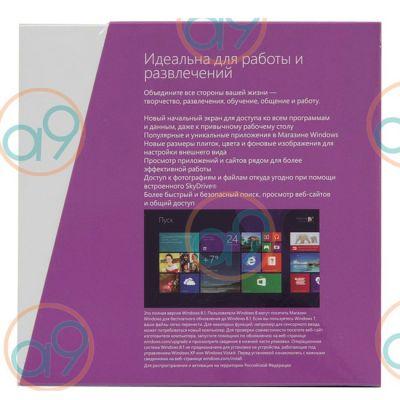 Программное обеспечение Microsoft Windows 8.1 32-bit/64-bit Russia Only DVD BOX WN7-00937