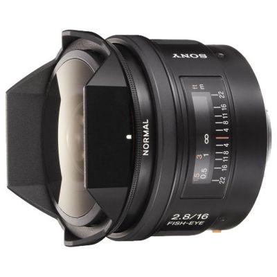 Объектив для фотоаппарата Sony 16mm f/2.8 Fisheye (ГТ Sony) SAL16F28