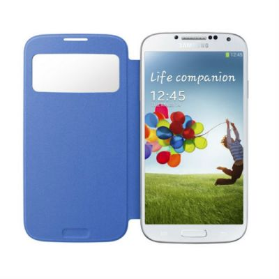 Samsung Чехол-книжка S-View Cover Galaxy S4/I9500 Light Blue EF-CI950BCEG