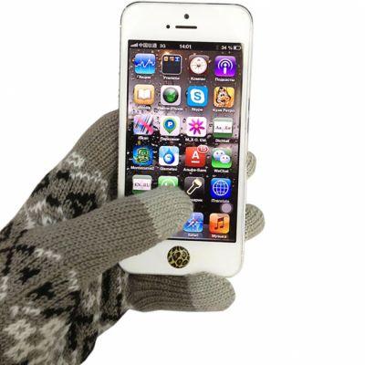 Перчатки CBR для сенсорных экранов Fiver Grey серые (FD 382)