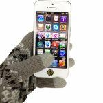 CBR Перчатки для сенсорных экранов Fiver Grey серые (FD 382)