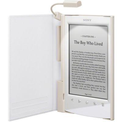 Sony обложка с подсветкой для электронных книг PRS-T1 белый PRSACL10W.WW2