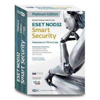 Антивирус ESET Smart Security Platinum Edition NOD32 (0+) (NOD32-ESS-NS(BOX)-2-1)
