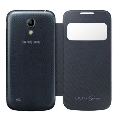 Чехол Samsung для Galaxy S 4 mini S View i9192 черный EF-CI919BBEGRU