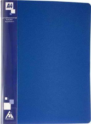 Бюрократ Папка с металлическим зажимом, ф.А4, пл. 0.70мм, внутр., торц. карм. с бум. встав., синяя 816854