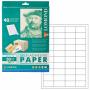 Бумага Lomond самоклеящаяся,этикетки, А4, 105x41 мм, 50 листов (белый) 818017