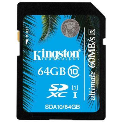 ����� ������ Kingston SDHC 64Gb Class 10 UHS-I Ultimate Flash Card SDA10/64GB