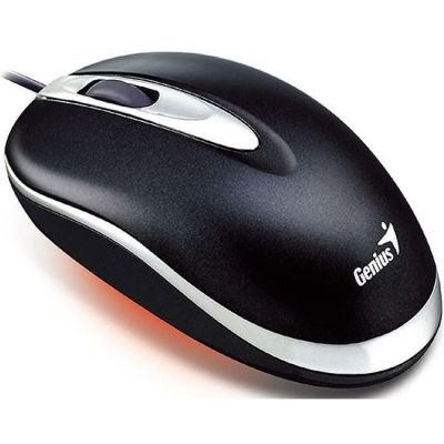 Мышь проводная Genius Mini Traveler Laser Black