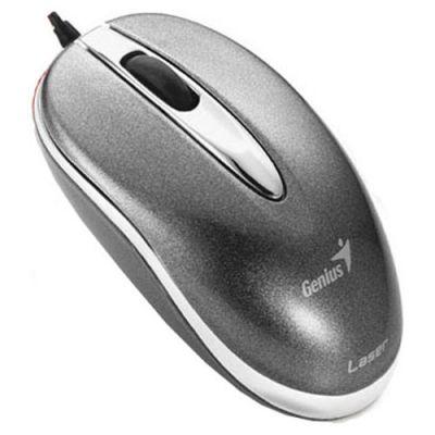 Мышь проводная Genius Mini Traveler Laser Silver