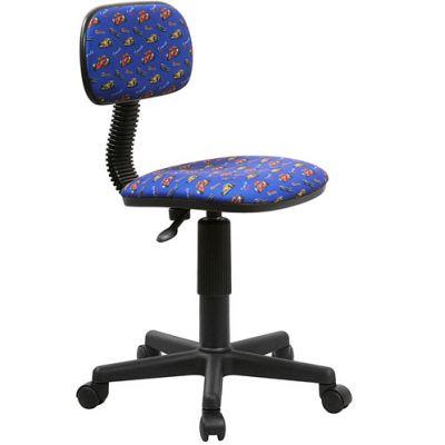 Офисное кресло Бюрократ Ch-201NX Race-Bl формула 1 на синем фоне
