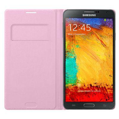 Чехол Samsung для Galaxy Note 3 розовый Flip Wallet EF-WN900BIEG