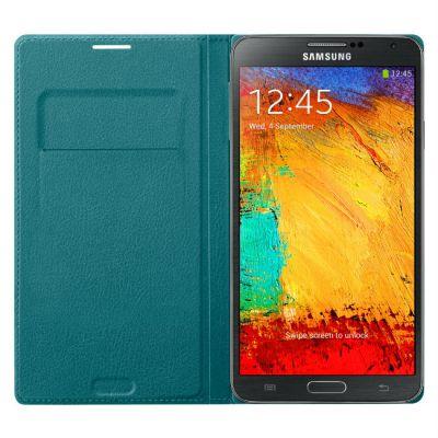 Чехол Samsung для Galaxy Note 3 бирюзовый Flip Wallet EF-WN900BLEG