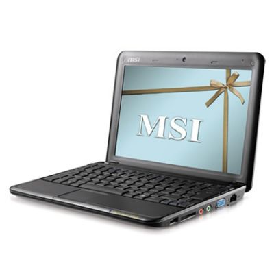 Ноутбук MSI Wind U100 Black