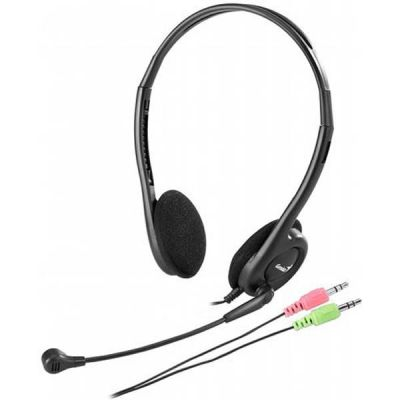 Наушники с микрофоном Genius HS-200C Black